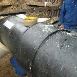 montáž předizolovaného potrubí velké dimenze
