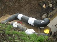 montáž kompenzace předizolovaného potrubí
